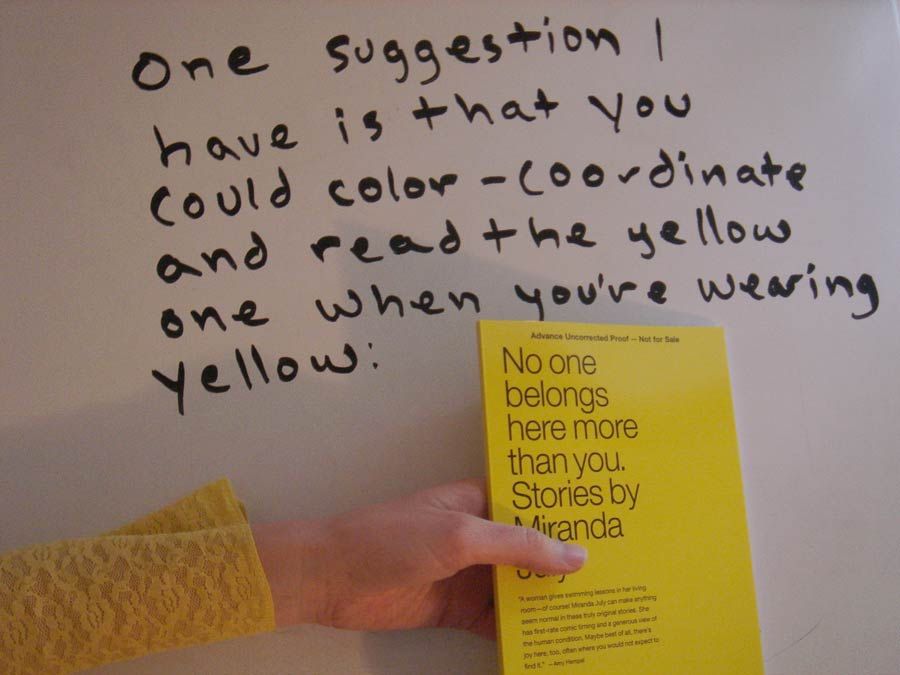 Miranda July's Book